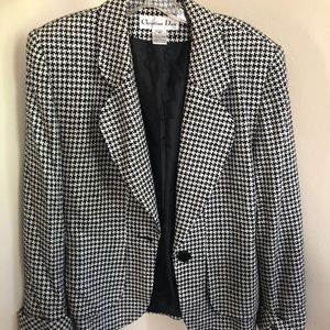 Christian Dior Houndstooth Suit